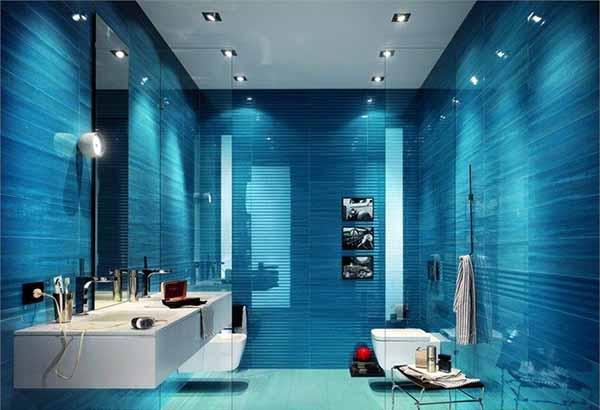 Descobre o significado das cores na decoraç u00e3o da tua casa 1001 Ideias -> Decoração De Casas De Banho Em Azul