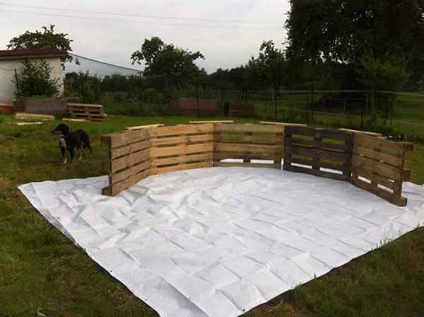Como construir uma piscina com paletes super f cil e barato for Construir una alberca barata