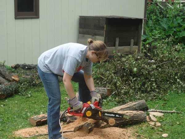 Como fazer um bonito caminho no jardim com restos de troncos de
