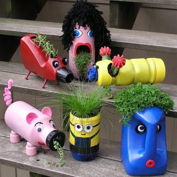 vasos feitos a partir de embalagem plástica10